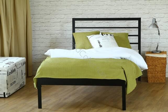 Nowoczesne Jednoosobowe łóżko Metalowe Simply Z Jednym