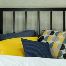 łóżko Jednoosobowe Metalowe Simply 2 Z Jednym Szczytem