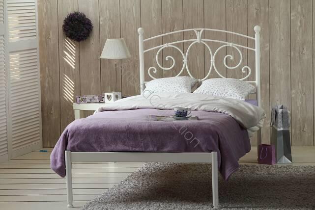 łóżko Metalowe Pojedyncze Sylvia Jeden Szczyt