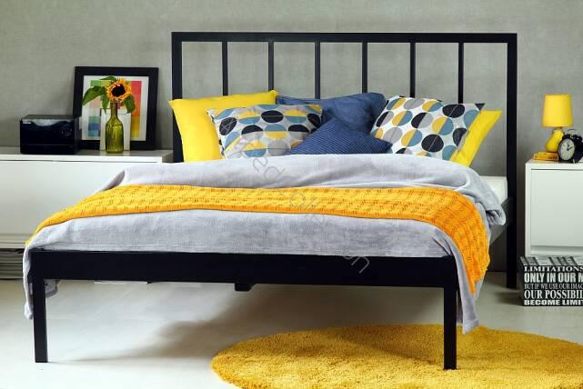 łóżko Metalowe Nowoczesne Simply 2 Z Jednym Szczytem