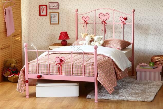 łóżko Metalowe Jednoosobowe Sweety 2 Dwa Szczyty Sklep
