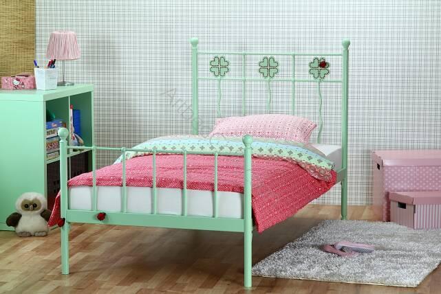 łóżko Metalowe Jednoosobowe Dla Dziecka Koniczynka Dwa