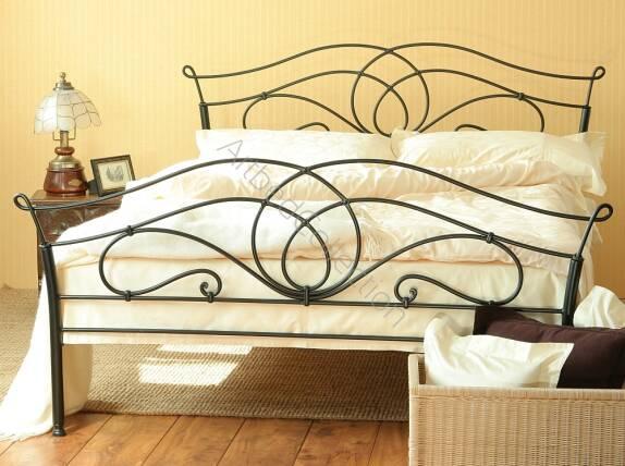 łóżko Metalowe Kute Iris Ii Z Dwoma Szczytami