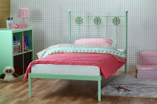 łóżko Metalowe Jednoosobowe Dla Dziecka Koniczynka Jeden
