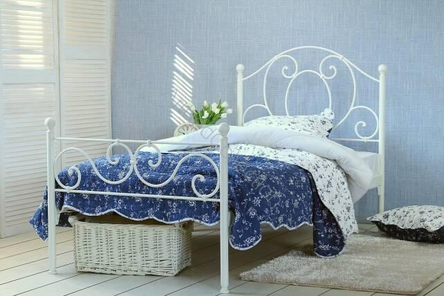 łóżko Kute Jednoosobowe Agnes Z Dwoma Szczytami