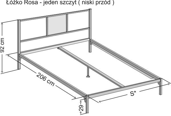 łóżko Metalowe Nowoczesne Rosa Z Jednym Szczytem Sklep