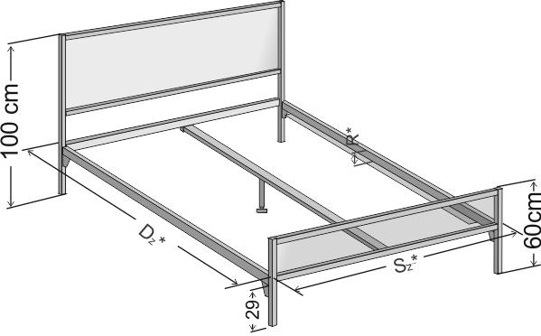 Łóżko metalowe w stylu industrialnym Loft